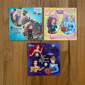 3 Disney Princess Holiday Books for Girls